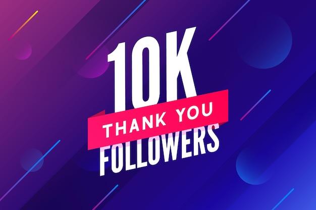 10000 follower vektor gruß soziale karte danke follower