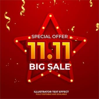 11.11 online-shopping-verkaufsplakat oder -flyer-design