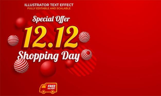 12.12 online-shopping-verkaufsplakat oder -flyer-design