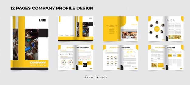 12 seiten firmenprofil premium design Premium Vektoren