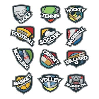 12 sport-logo-vektor-illustration