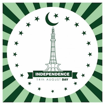 14. august pakistan independence day label-design