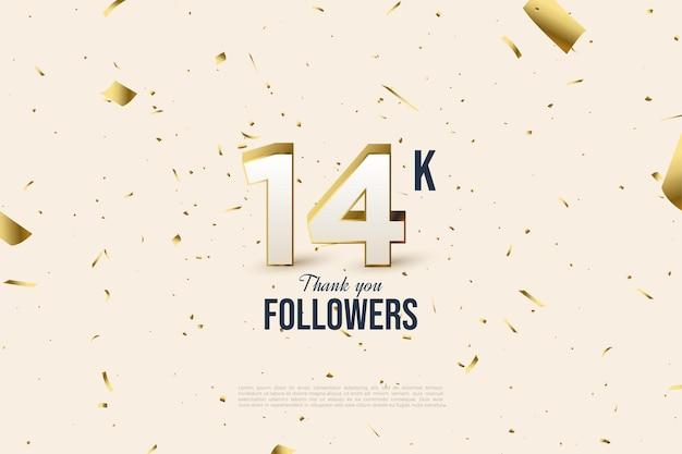 14k anhänger mit verstreuten goldfoliennummern und dekorationen