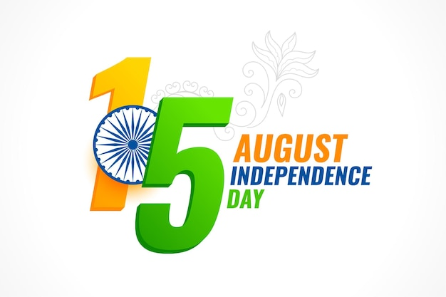 15. august unabhängigkeitstag des indischen kartendesigns