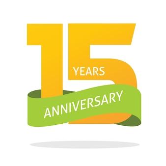 15-jähriges jubiläum feiert logo-symbol