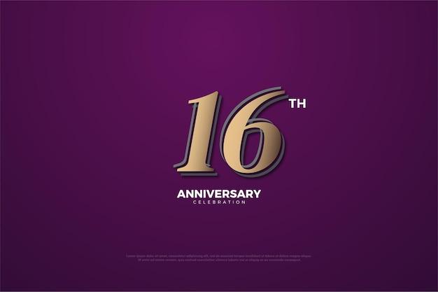 16. jubiläum auf lila