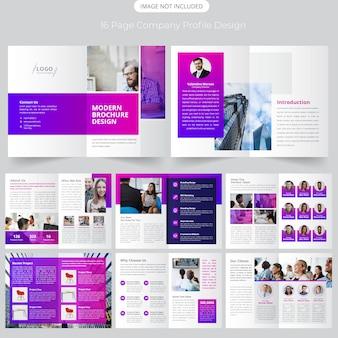 16 seite firmenprofil design