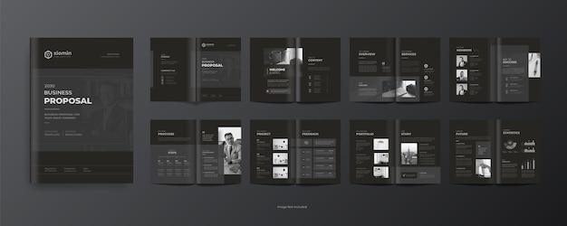 16 seiten corporate business broschüre designvorlage jahresbericht oder firmenprofil für marketing