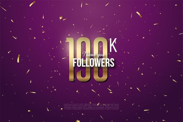 190k follower mit goldenen zahlen und punkten