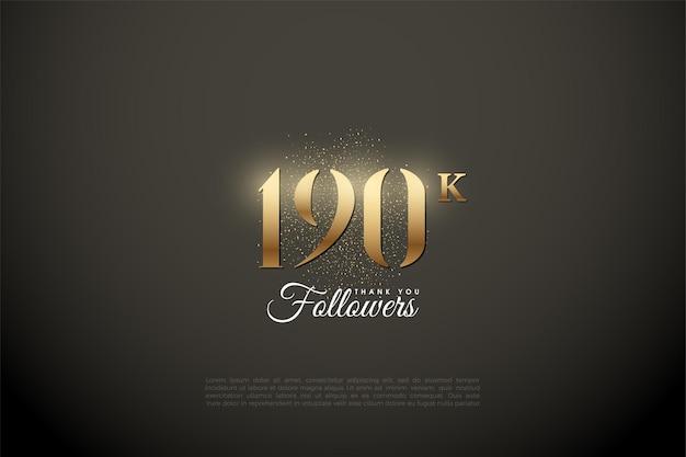 190k follower mit goldenen zahlen