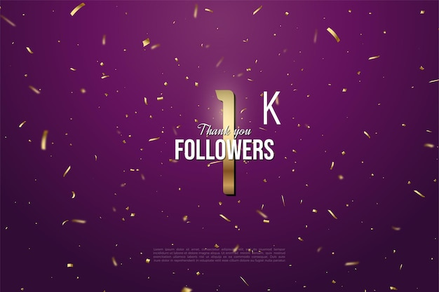 1k follower mit goldnummer