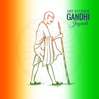 2. oktober gandhi jayanti für kreatives poster gefeiert