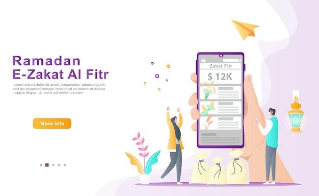 2 personen haben dankbar eine digitale anwendung zum sammeln von zakat-fitr und informationen zu zakat-typen erstellt