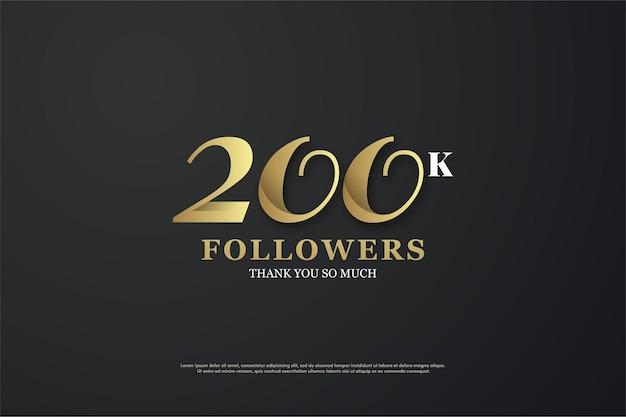 200.000 follower mit einer eindeutigen illustrierten nummer.