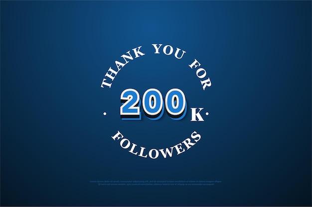 200.000 follower mit modernen graffiti-figuren.