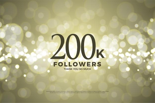 200.000 follower mit zahlen und buchstaben.