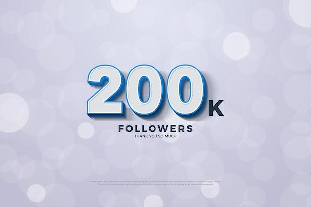 200k anhänger mit blau umrandeten 3d-figuren.