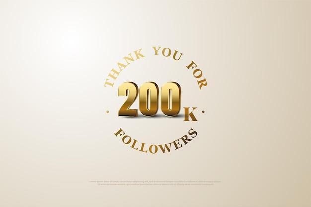 200k follower mit zahlen und hintergrund.