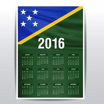 2016 kalender der den salomonen