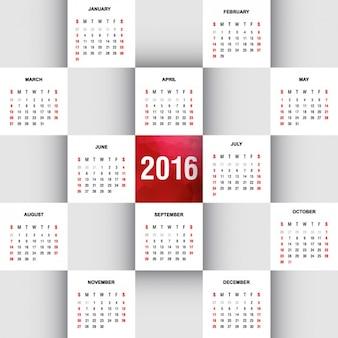 2016 kalender in quadrate setzen
