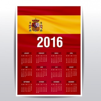 2016 kalender von spanien