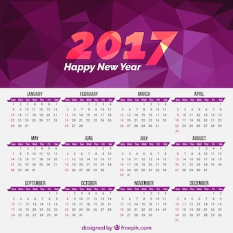 2017 geometrische kalender