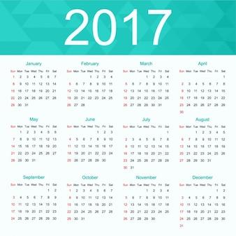 2017 kalender-design