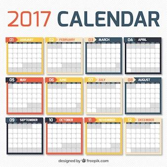 2017 kalender in einfachen design