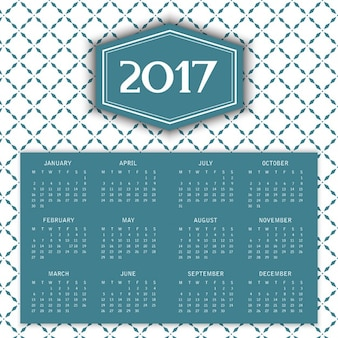 2017 kalender mit dekorativen muster