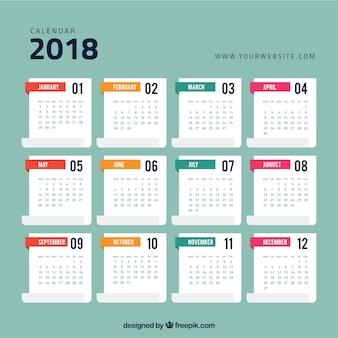 2018 kalendervorlage