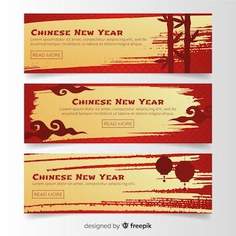 2019 chinesische banner für das neue jahr