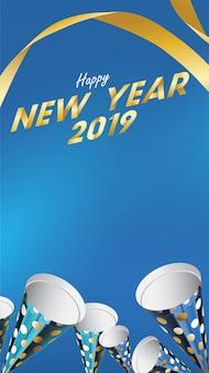 2019 frohes neues hintergrund