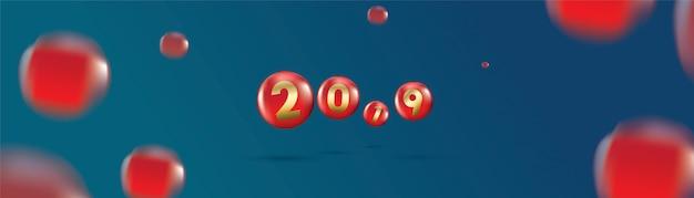 2019 frohes neues jahr mit farbe weihnachtskugeln oder abstrakten kugeln oder blasen