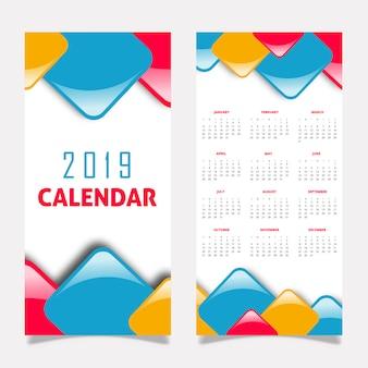 2019 kalenderdesign
