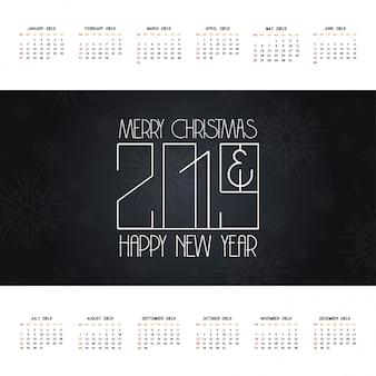 2019 weihnachtskalender-designvektor