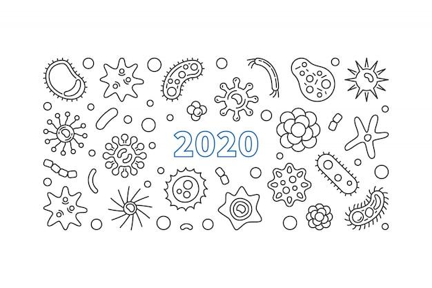 2020 bakterien umriss