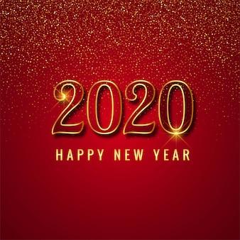 2020 feier karte auf rot
