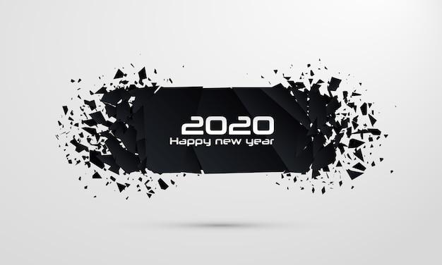 2020 frohes neues jahr. geometrische banner