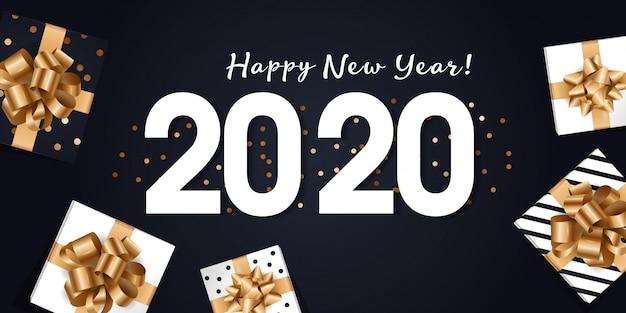 2020 frohes neues jahr grußkarte