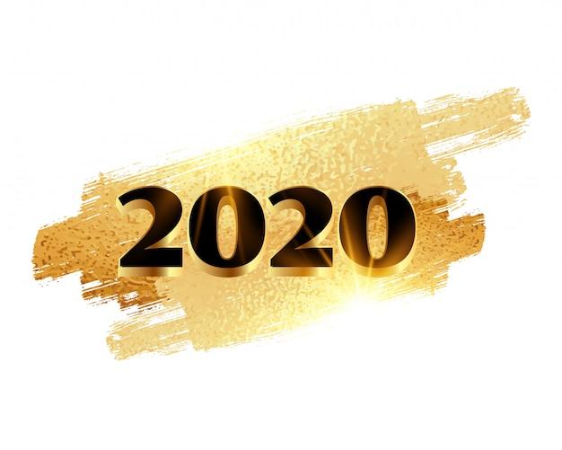 2020 goldener glänzender hintergrund des neuen jahres