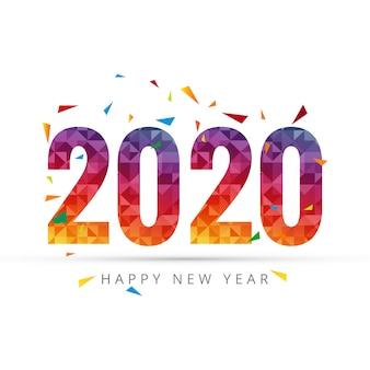 2020 guten rutsch ins neue jahr-text für grußkarte
