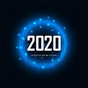 2020 guten rutsch ins neue jahr-vektor