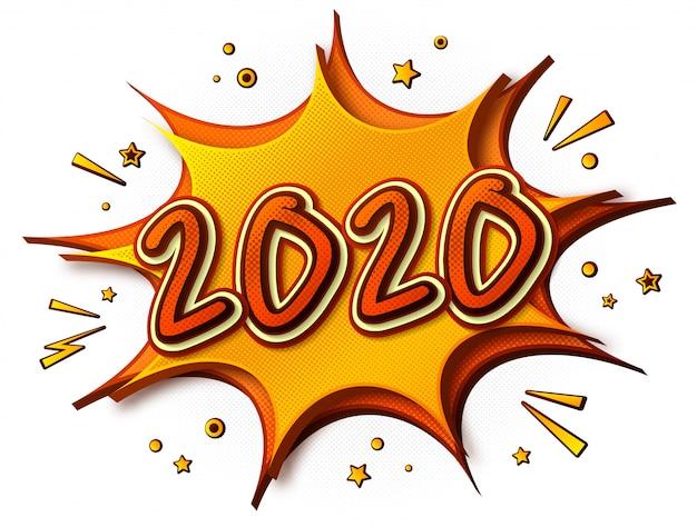 2020 jahr im comicstil