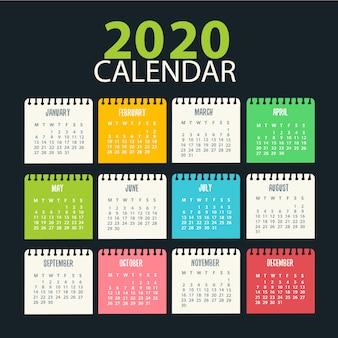 2020 kalenderdesign druckfertig