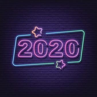 2020 neon schild