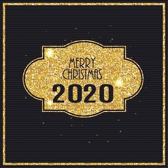 2020 neujahr und frohe weihnachten hintergrund