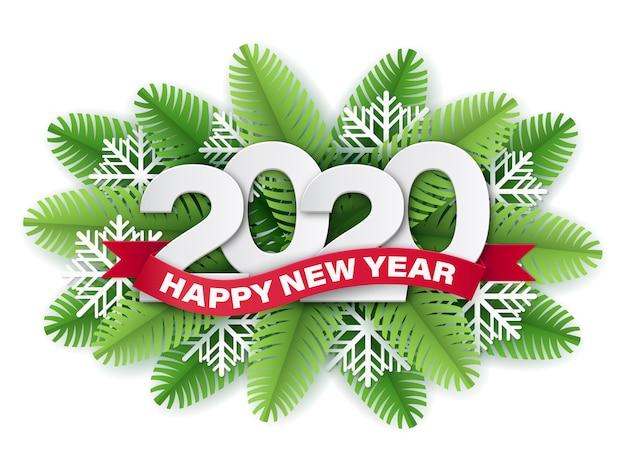 2020 papierschnittartzahlen und rotes band