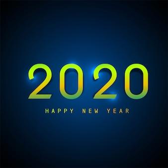 2020 text-guten rutsch ins neue jahr-feiertags-vektorkarte
