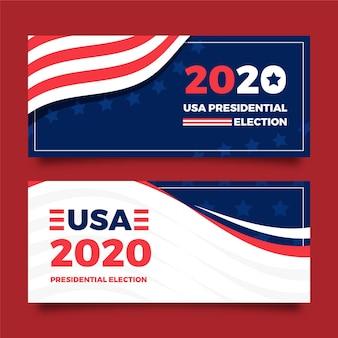 2020 uns präsidentschaftswahl banner design