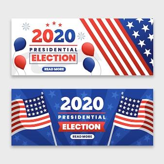 2020 uns präsidentschaftswahl banner vorlage